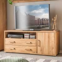 Hochwertige Wohnzimmer Möbel in Eiche Massivholz geölt ...