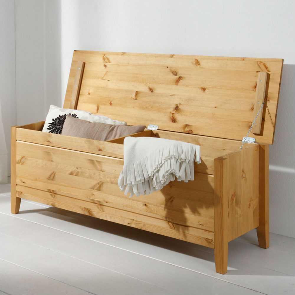 Holztruhe Corabia aus Kiefer Massivholz  Wohnende