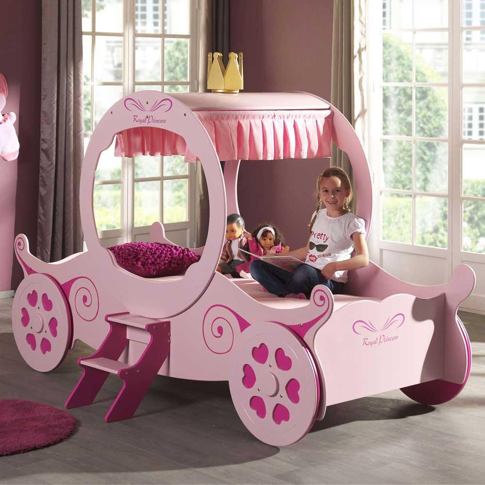 Kinderbett Valentine im Prinzessin Design  Wohnende