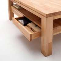 Massivholz-Couchtisch Alicante mit Schubladen | Wohnen.de