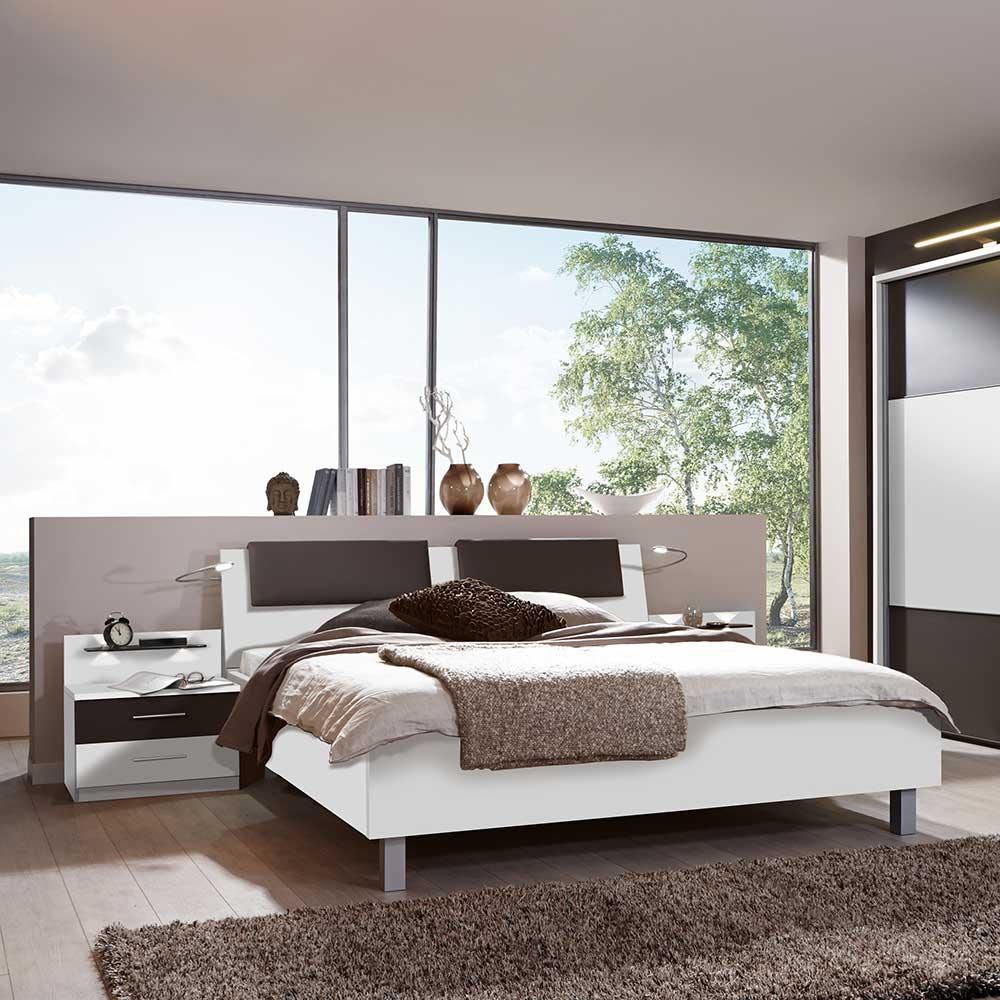 Schlafzimmer Set Rajada in Wei Braun  Wohnende