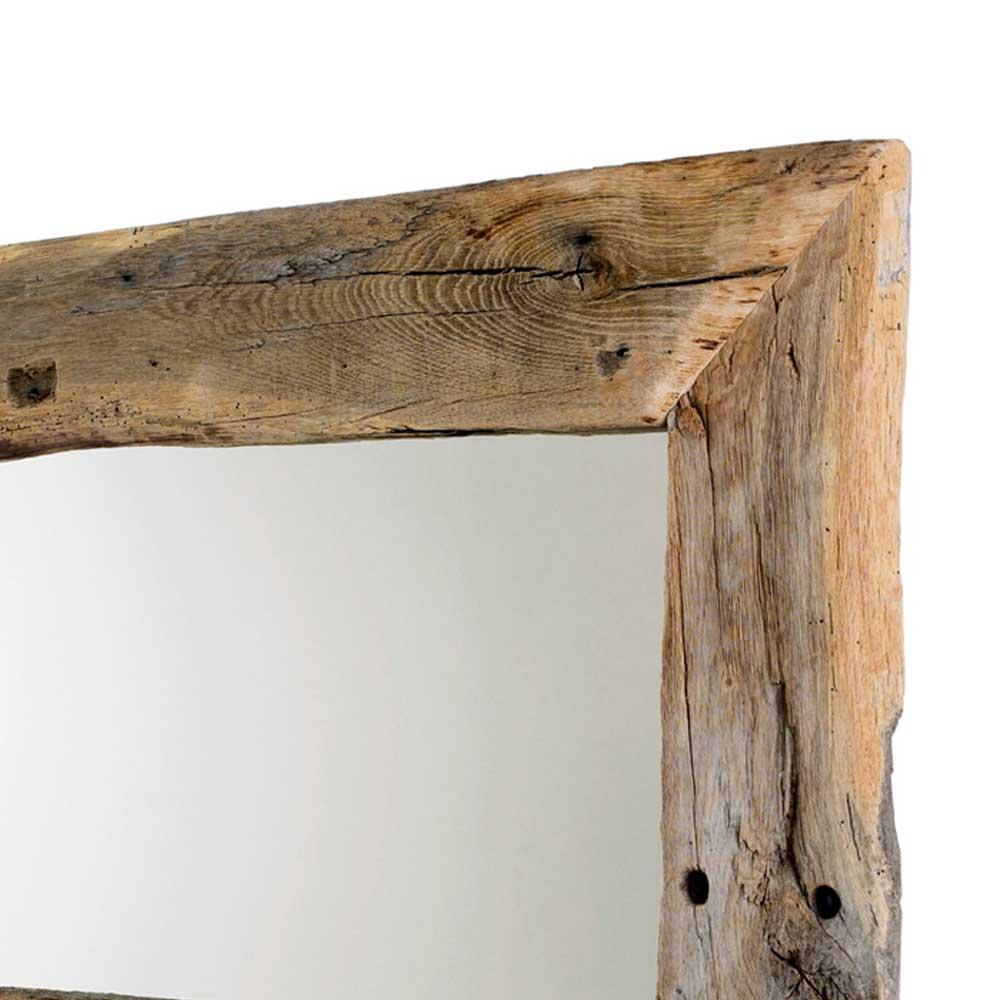 Massiver Spiegel Salverna mit Altholzrahmen  Wohnende