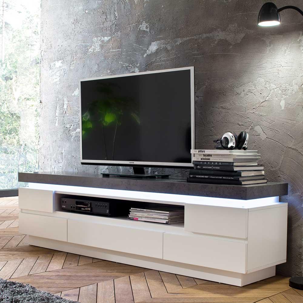 TV Board Rebelvo mit LED Beleuchtung 175 cm  Wohnende