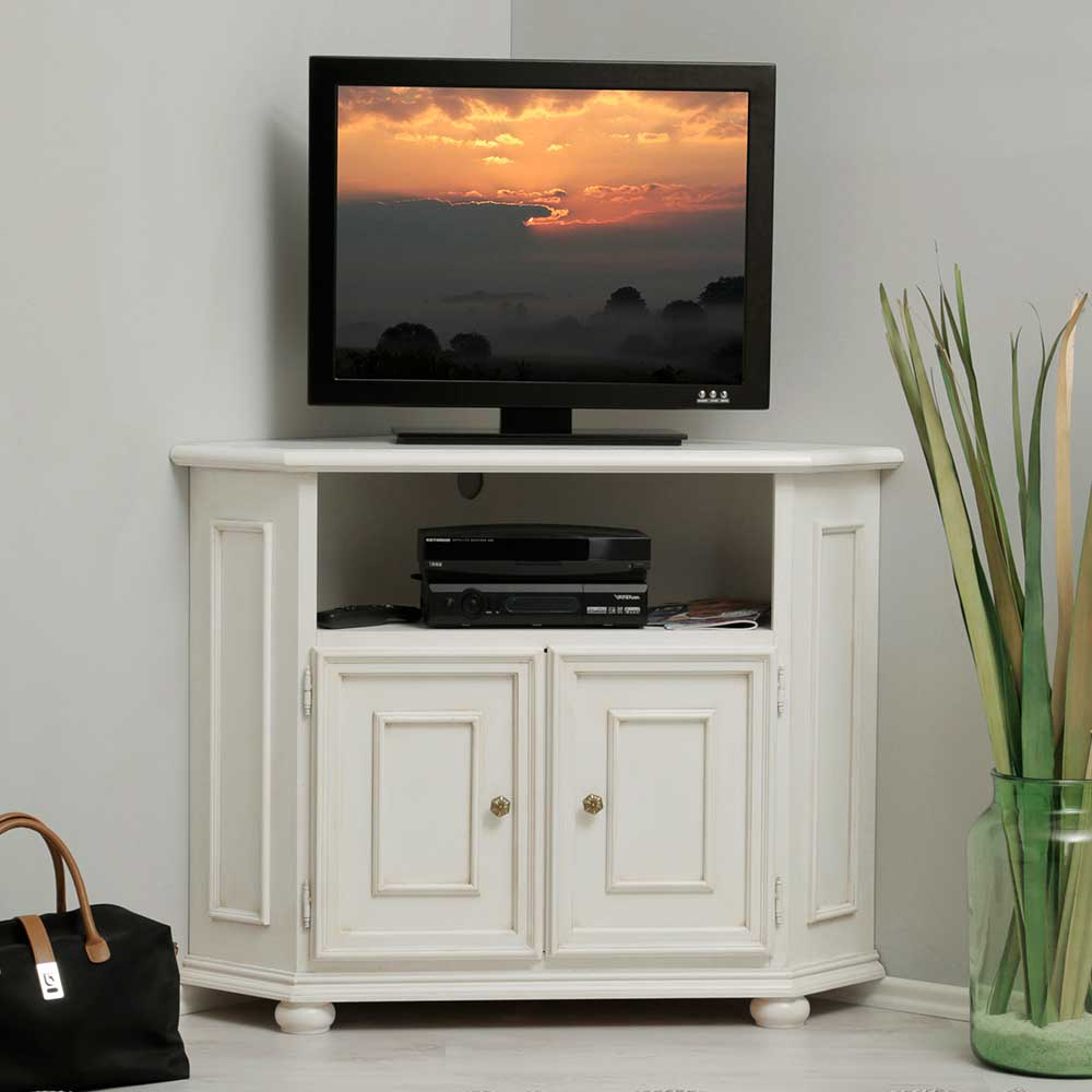 TV Eckschrank Tioroda in Wei 100 cm breit  Wohnende