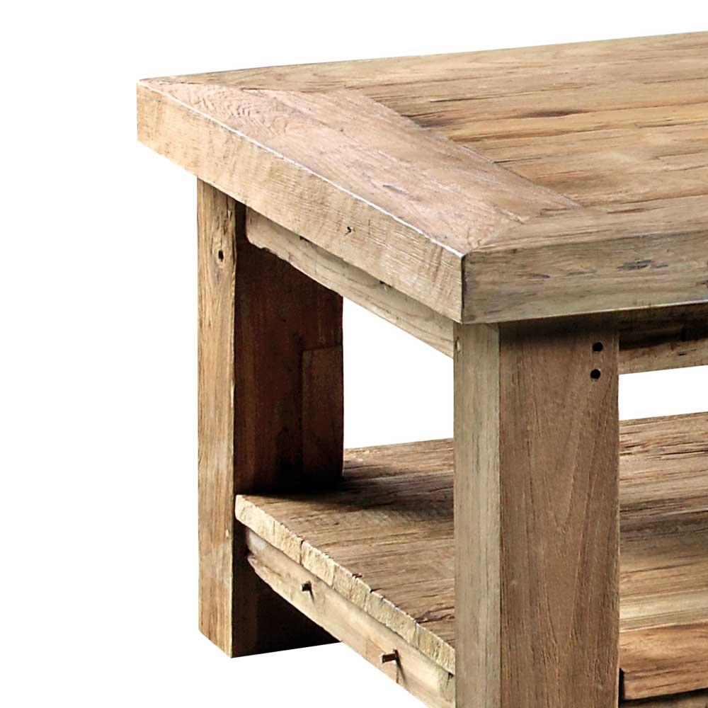 Wohnzimmer Couchtisch Lobitius aus Teak Altholz  Wohnende