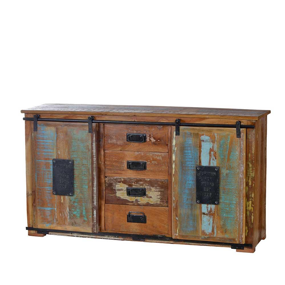 Wohnzimmer Sideboard Vayamos in Braun Bunt Shabby Chic