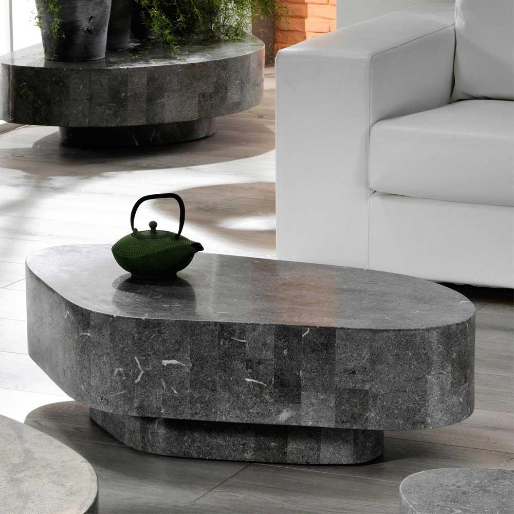 Schwebender Wohnzimmertisch Finaron aus Stein  Wohnende