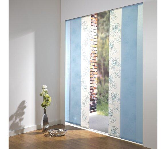 Schiebevorhang Set Angelina Blteuni blau 210cm kaufen