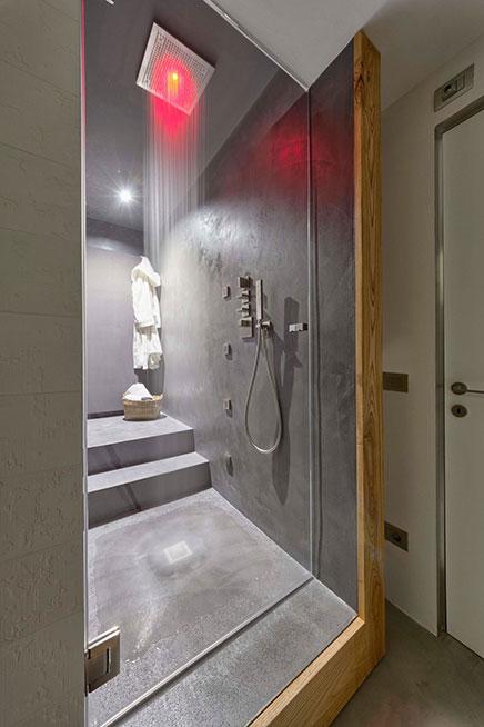 Badezimmer mit Beton Beton und Holz cire  Wohnideen