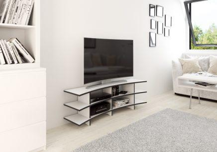 Gebogene TV an der Wand  Wohnideen einrichten