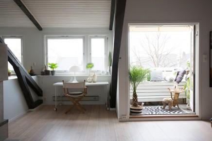 Gemtlich eingerichtete kleinen Balkon  Wohnideen einrichten