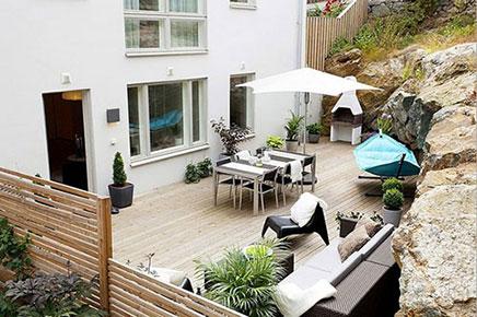 Groe Garten im kleine wohnung  Wohnideen einrichten