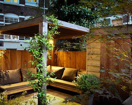 Kleine Stadt Garten aus Amsterdam  Wohnideen einrichten