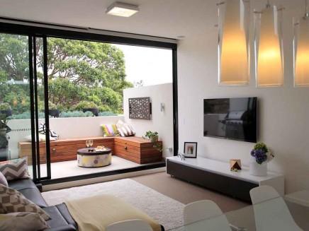 Kleiner Balkon Als Erweiterung Kleinen Wohnzimmer
