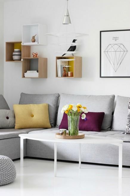 Wanddekoration ber dem Sofa  Wohnideen einrichten