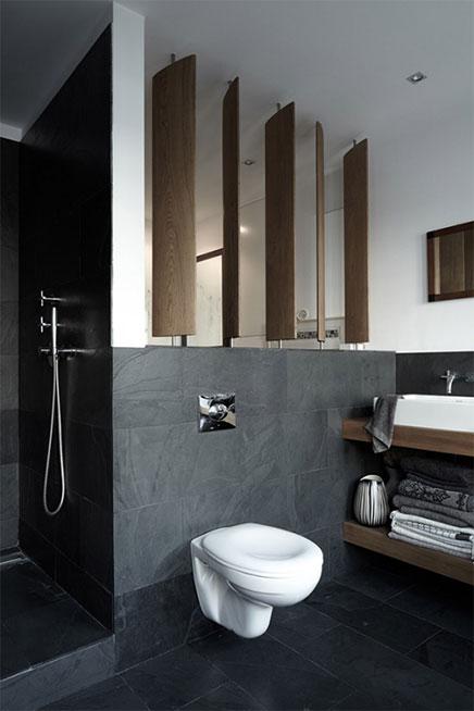 Wei grau und HolzAkzente im Badezimmer  Wohnideen einrichten