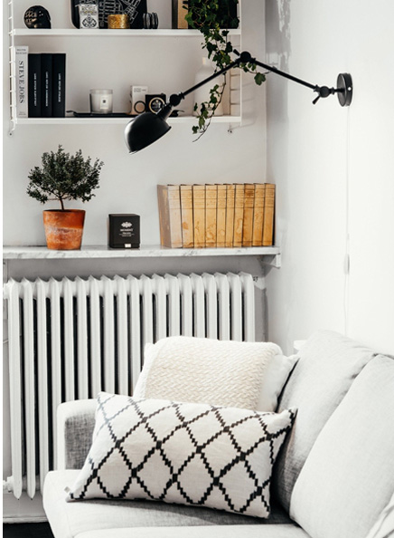 Wohnzimmer mit khlen skandinavischen Design  Wohnideen einrichten