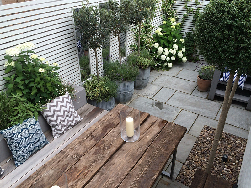 terrasse anlegen ideen - meuble garten, Terrassen deko