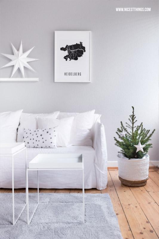 Weihnachtsdeko im Wohnzimmer  so sieht es gerade bei einigen Bloggern aus  Wohnkonfetti