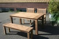 Gartenmbel Set aus massivem Holz - Tisch, Stuhl, Bank aus ...