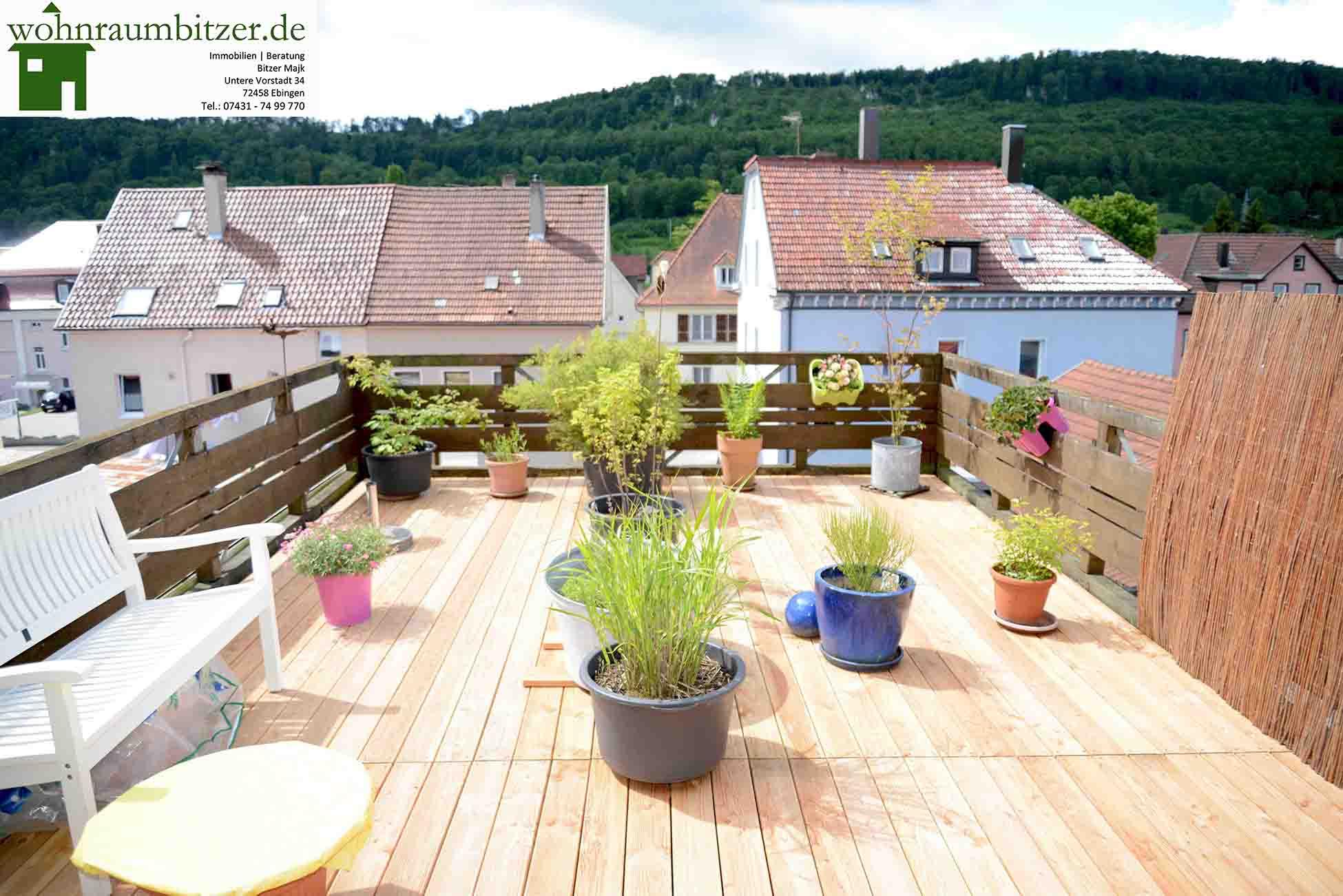 Terrasse nochmals Terrasse und eine 3 Zimmer Wohnung  wohnraumbitzerdewohnraumbitzerde