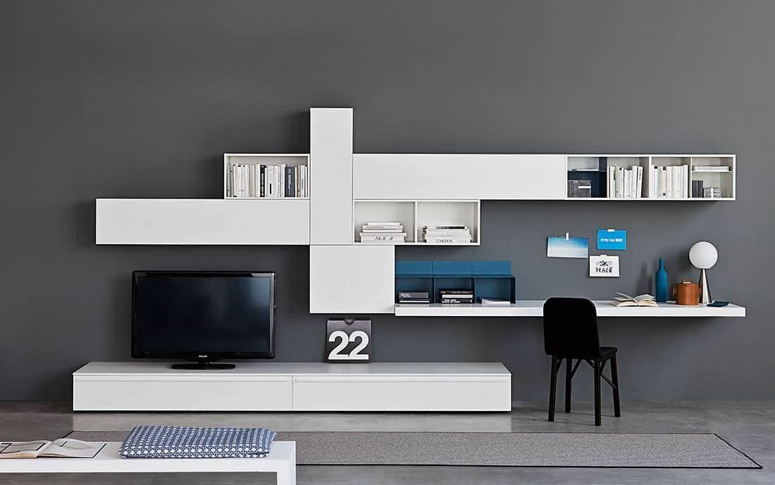 TV Wand Lampo L229 Design Wohnwand