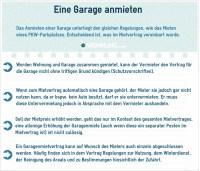 Garagen & Parkpltze: Rechtliche Grundlage fr Mieter und ...