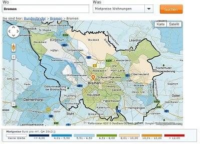 Mietspiegel Bremen 2016 was mieten in Bremen kostet