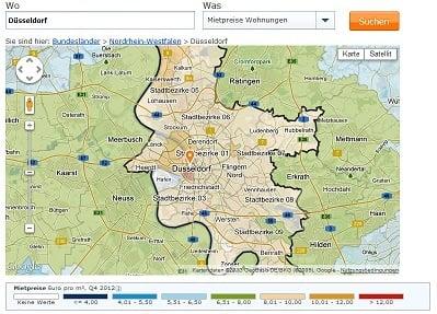 Mietspiegel Dsseldorf 2016 was mieten in Dsseldorf kostet