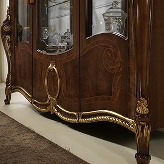 DONATELLO klassieke noten hoogglans woonkamer meubel Breda