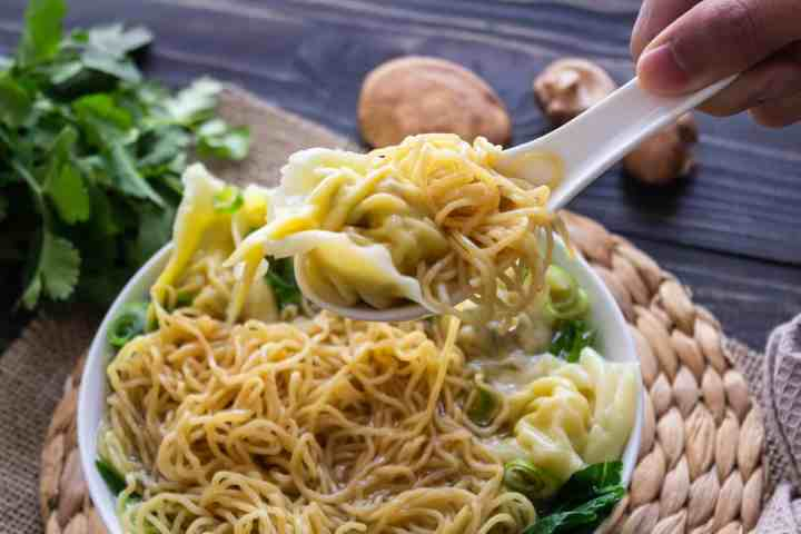 Wonton and egg noodles - Who doesn't love wontons? You can't go wrong with this wonton recipe that's jam-packed with love, care and plenty of family tricks!