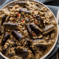 Eggplant and Pork Mince Stir Fry