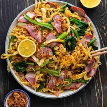 Easy BBQ Pork Lo Mein