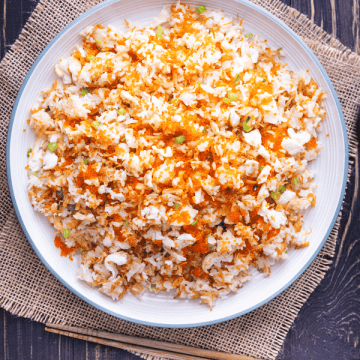 Fried rice on a plate