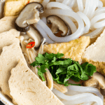 Banh canh chay in a bowl