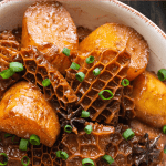 Braised Beef Honeycomb Tripe in a bowl