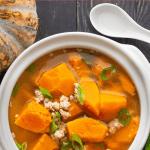 Vietnamese Kabocha Squash Soup (Canh Bí Đỏ Thịt Bằm)