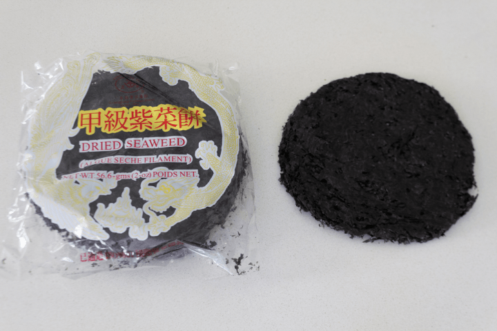 Dried seaweed in its packet.