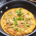 Pork Mince Omelette in a pan.