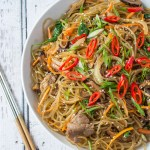 Japchae (Korean Stir-Fried Glass Noodles)