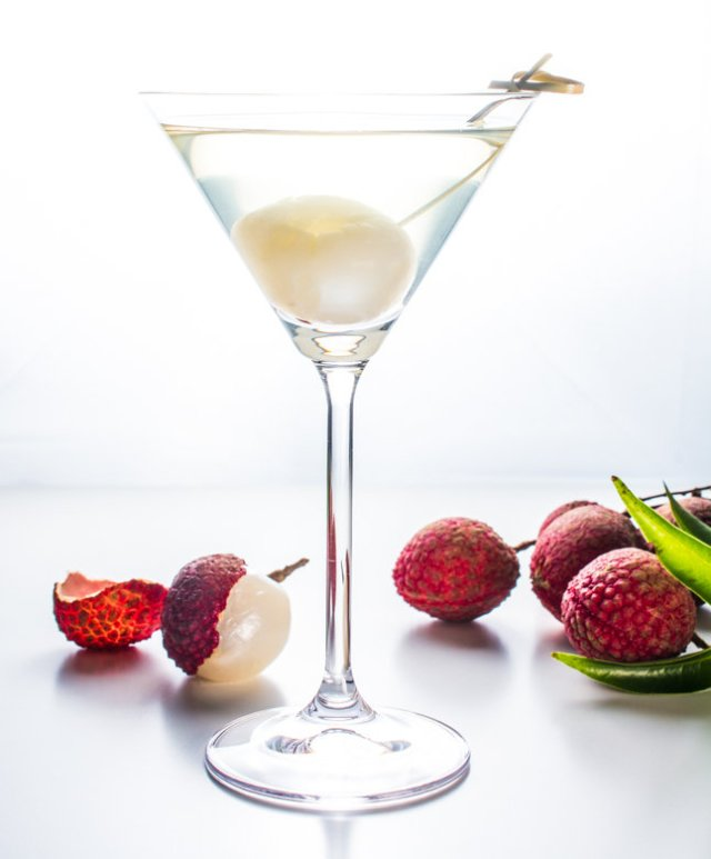 Lychee martini wok skillet for Cocktail litchi