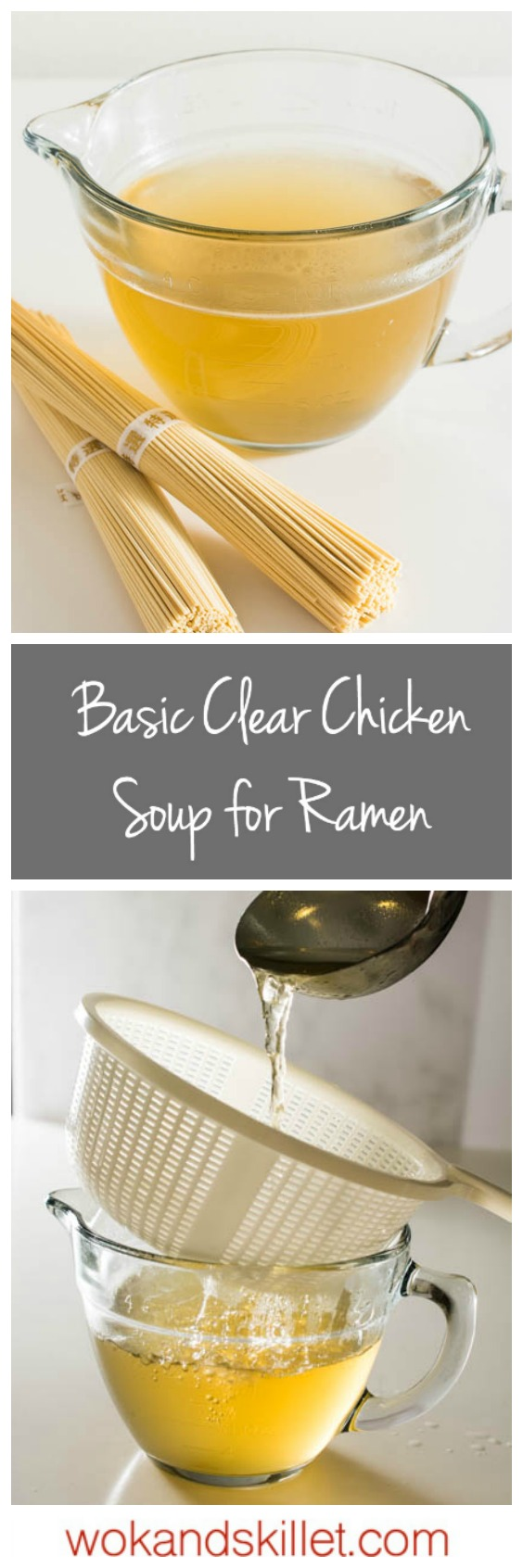 A good broth such as this Basic Clear Chicken Soup paired with a good tare sets the foundation for a great bowl of ramen.