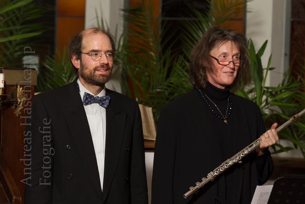 Konzert mit Arne Tigges, Harmonium, und Martina Pahl, Querflöte. Foto: A. Hasenkamp, Fotograf in Münster.