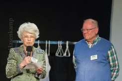 Annette Paßelick-Wabner und Karl Franke eröffneten: Julia Hagemann mit Musikkabarett im Kulturbahnhof Hiltrup, organisiert von der Kulturbühne/Stadtteiloffensive Hltrup. Foto: A. Hasenkamp, Fotograf in Münster.