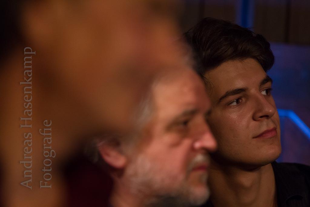 Pierre Bensusan, Carlos und Lucas Dorado in Haus Siekmann, Sendenhorst. Foto: A. Hasenkamp, Fotograf in Münster.