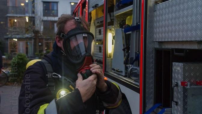 Feuerwehr übt im Achatiushaus in Wolbeck 3