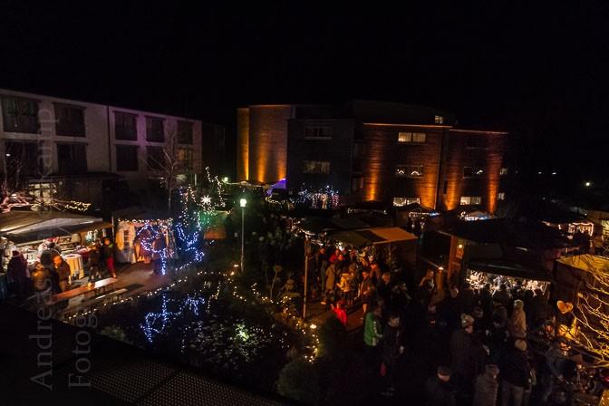 Wolbecker Weihnachtsmarkt 2015: Illumination und Originelles