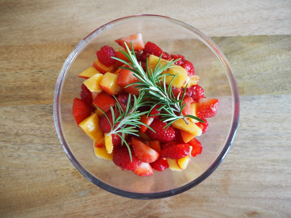 Peach, Red Berry and Rosemary Salad 2