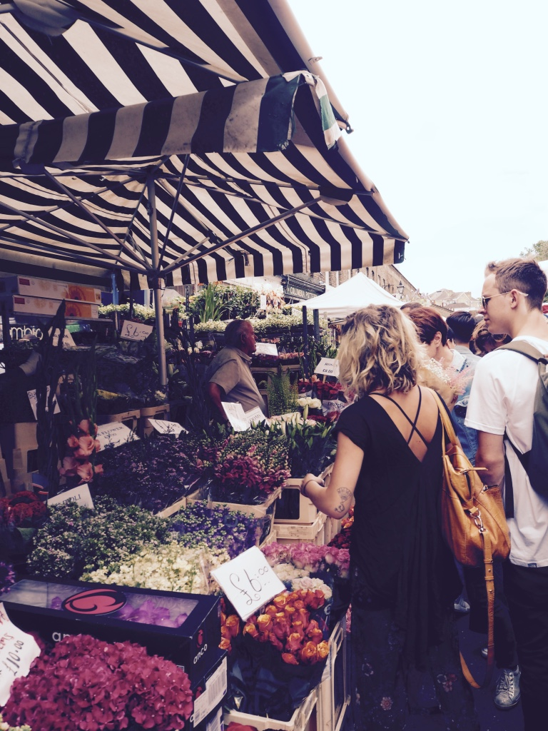 Columbia Road tiny trail - market stalls