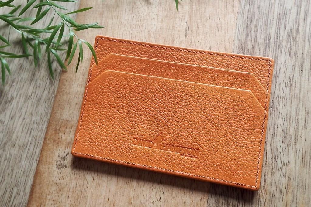 Giveaway: David Hampton Leather Card Holder in Orange